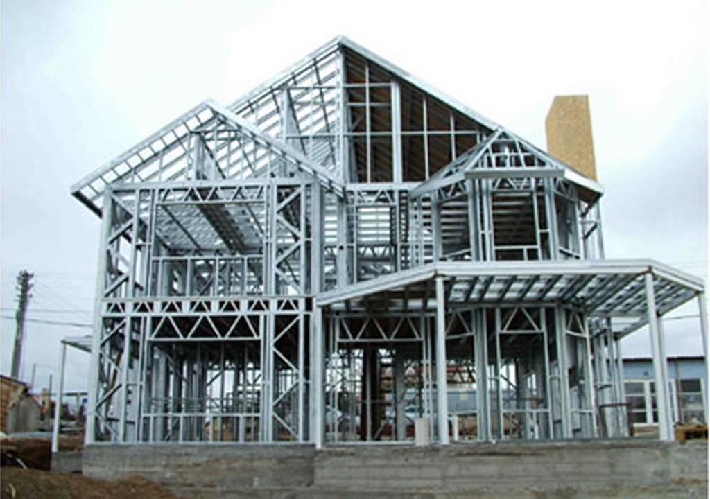 Foto de Estructura de acero de la luz de la casa móvil - Diseño ...