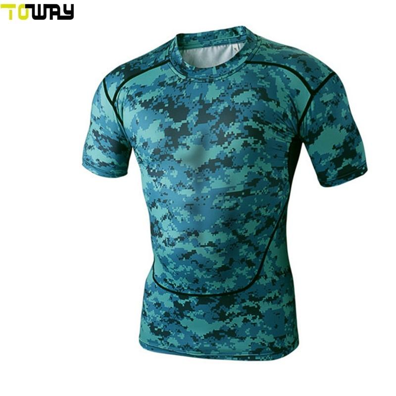 Ropa deportiva 5XL Hombres camiseta de la compresión de la sublimación personalizado