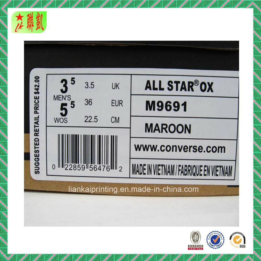 66cc4d1f192ba Autocollant de papier d étiquette de codes barres de chaussure –Autocollant  de papier d étiquette de codes barres de chaussure fournis par Zhongshan  Liankai ...