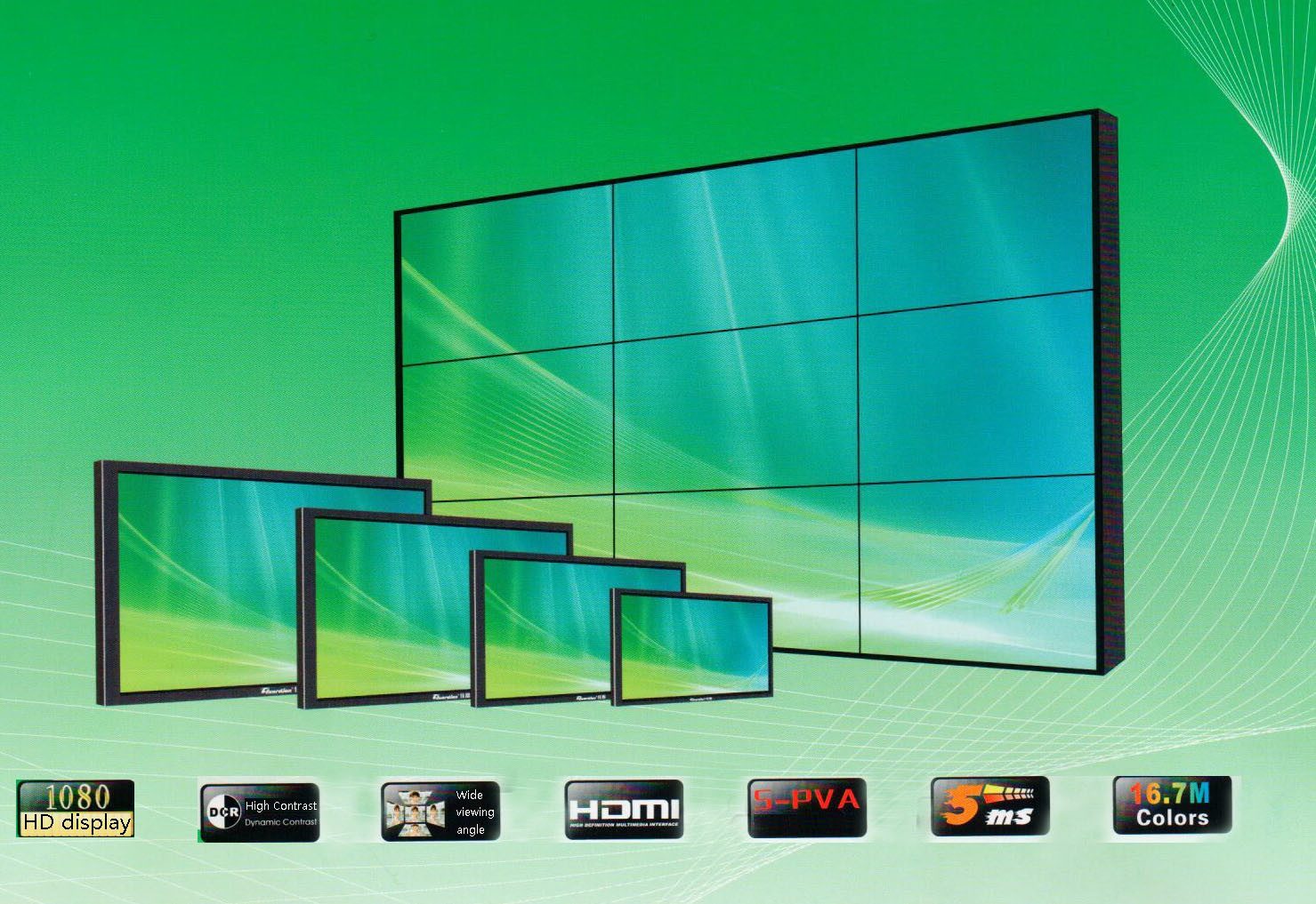 Display a cristalli liquidi da 46 pollici con piastrelle Mosaic ultra strette da 6,7 mm TV a grande schermo a parete Patchwork