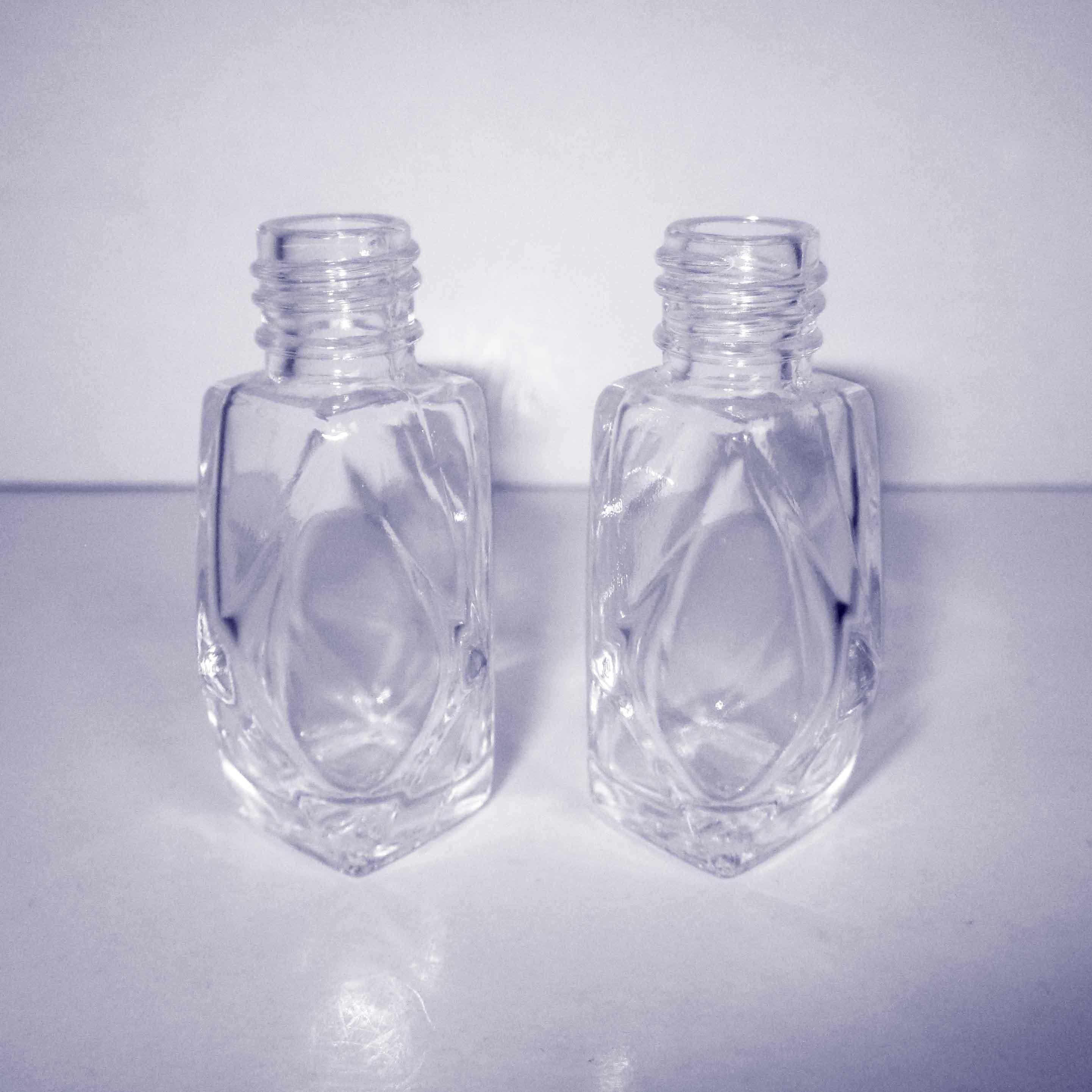 Diamant-Form-Nagellack-Flasche, Glasflasche, kosmetische Glasflasche ...