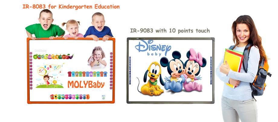 Zwei Punkte der Noten-interaktives Whiteboard für Kinder