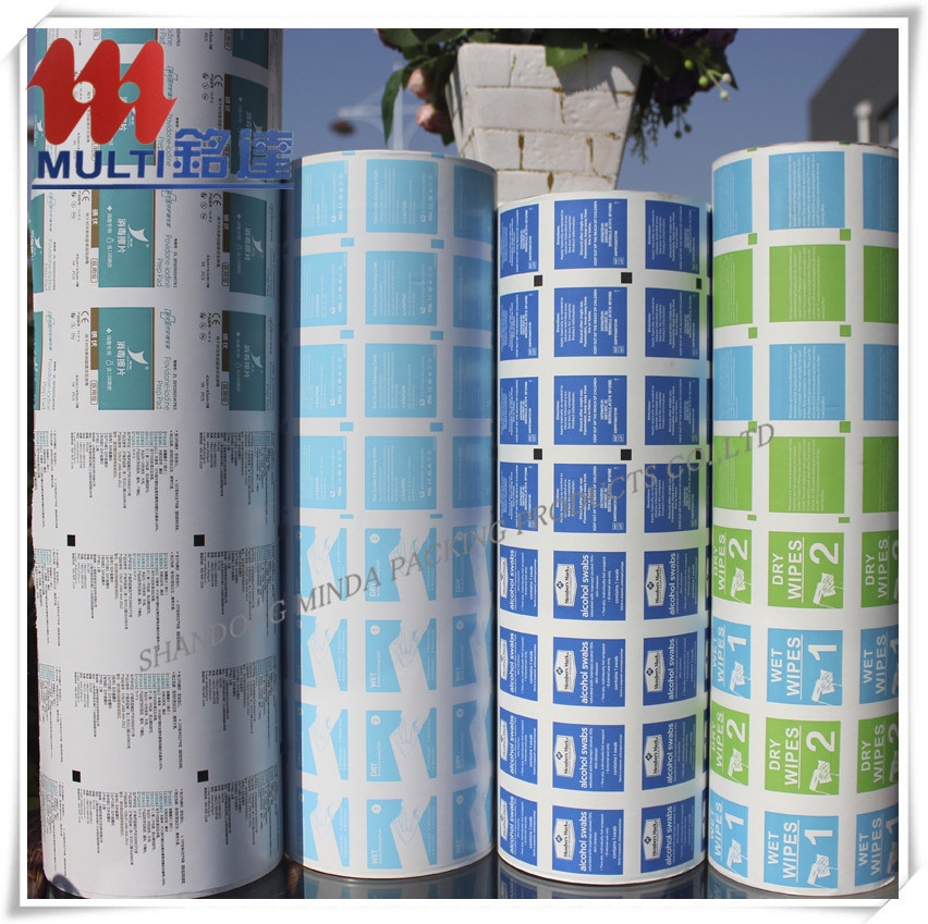 El papel de aluminio Papel plastificado de gasa con alcohol