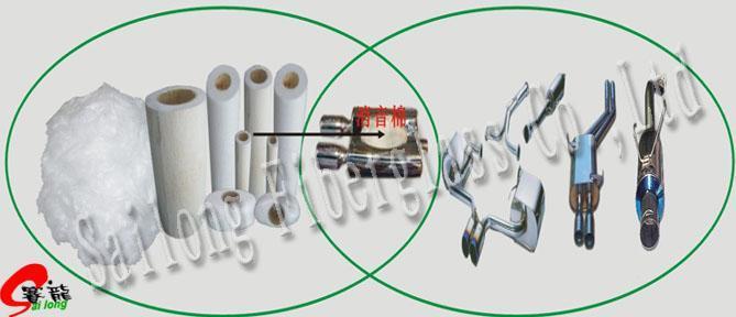 Reducción de ruido de algodón de fibra de vidrio