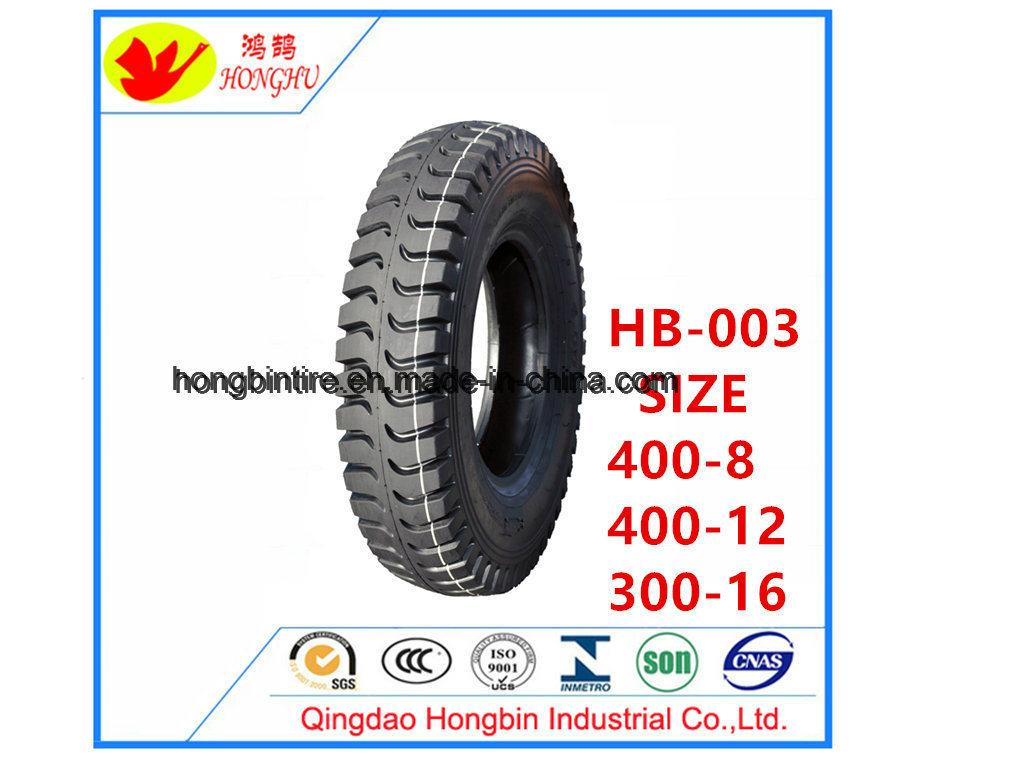 Haute qualité 4.00-8 4.00-12 3.00-16 de pneus pour motos