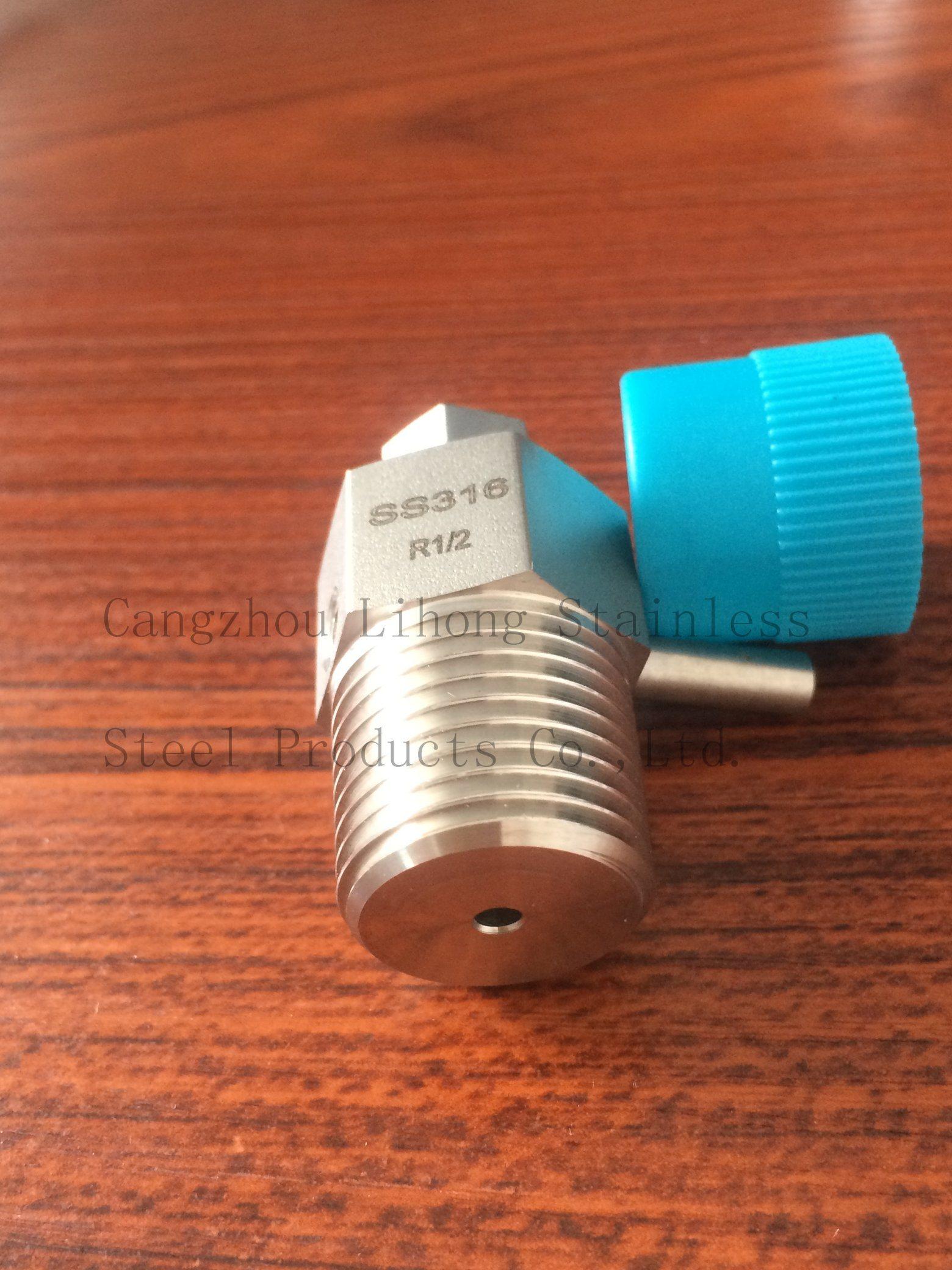 Valvola di scarico raccordo tubo in acciaio inox 316