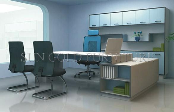 Noir et blanc bureau bureau moderne en bois sz od photo sur