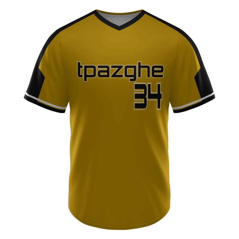 Maglia Da Baseball Personalizzata Con Pulsante Full Down Sublimata Di Alta Qualità