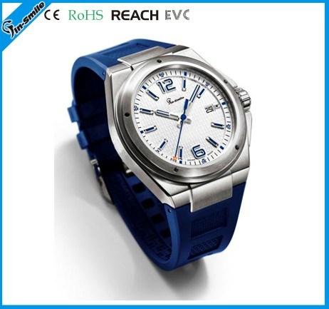 スポーツの人のための青いシリコーンの人の腕時計