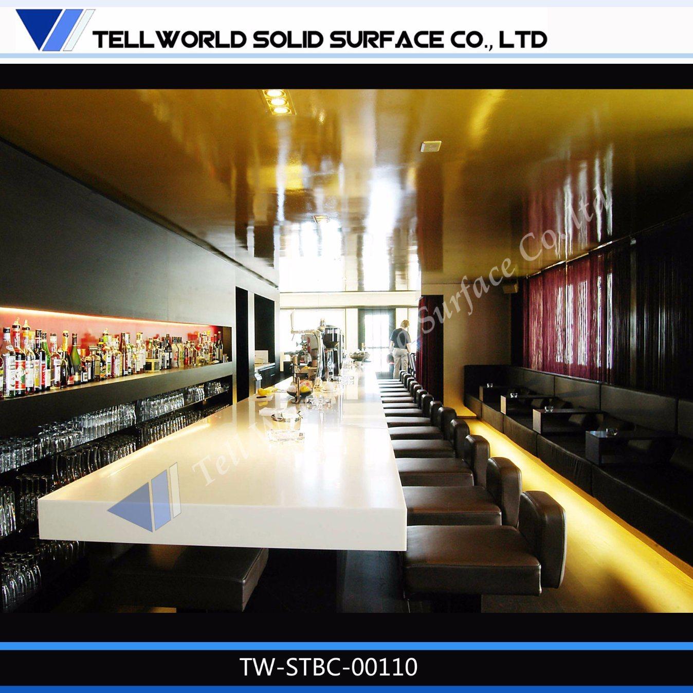 Moderne éclairé Incurvée Night Club Bar Comptoirbar Comptoirs