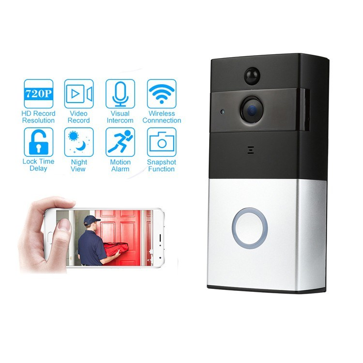 La détection de mouvement Doorphone interphone vidéo sans fil WiFi Smart Video sonnette