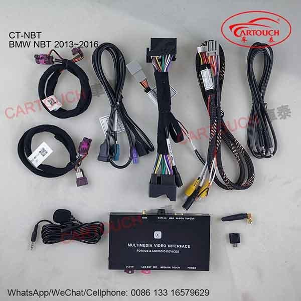 BMW Nbt CIC Evo CCC 시스템 미러 링크 MP5 정면 Rearview 사진기를 위한 Carplay 공용영역 사진기에 의하여 입력되는 인조 인간 자동차