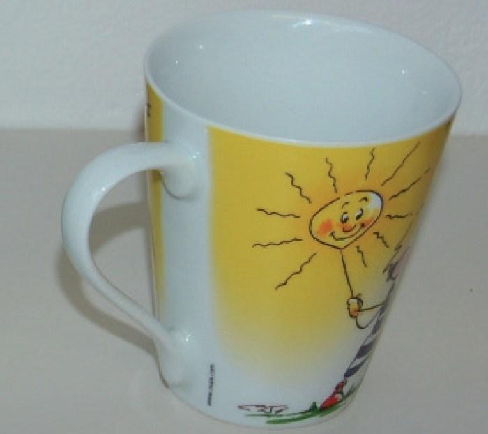 En forme de V pleine d'impression de l'autocollant promotionnel en céramique en porcelaine de tasse de café (WSY374M)