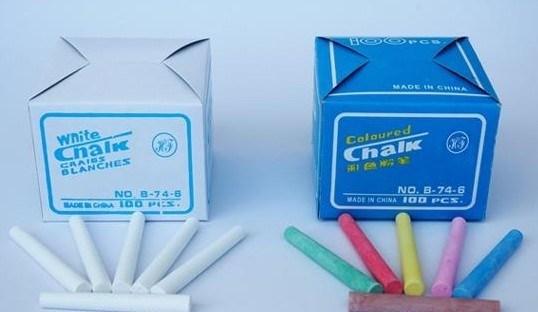 El precio barato chino de la escuela y los niños utilizan todo tipo Jumbo Dustless tiza blanca y de color normal