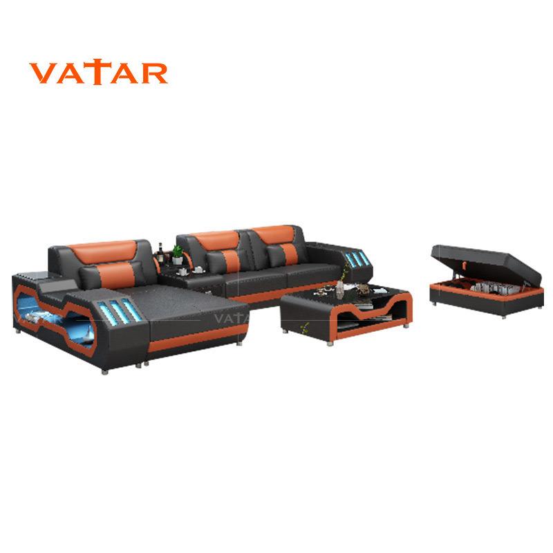 Fabrik-Preis-Wohnzimmer-Möbel-Leder-Sofa-Leder-Sofa-Set
