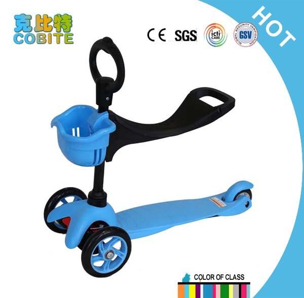 CE/En71 Approved Mini Scooter 3 in 1, 3 Wheels Blue Kids Scooter