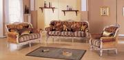 Tecido clássico sofá (S2721)