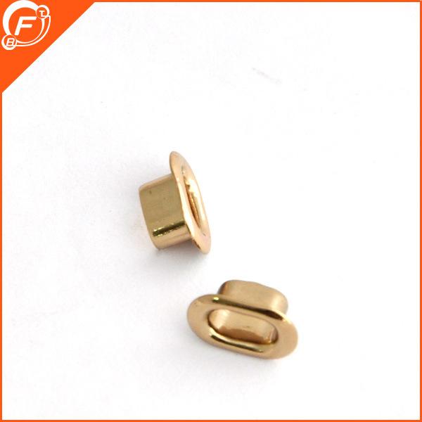 Fabricado en China el Metal de prendas de vestir de moda botón redondo ojal Botón