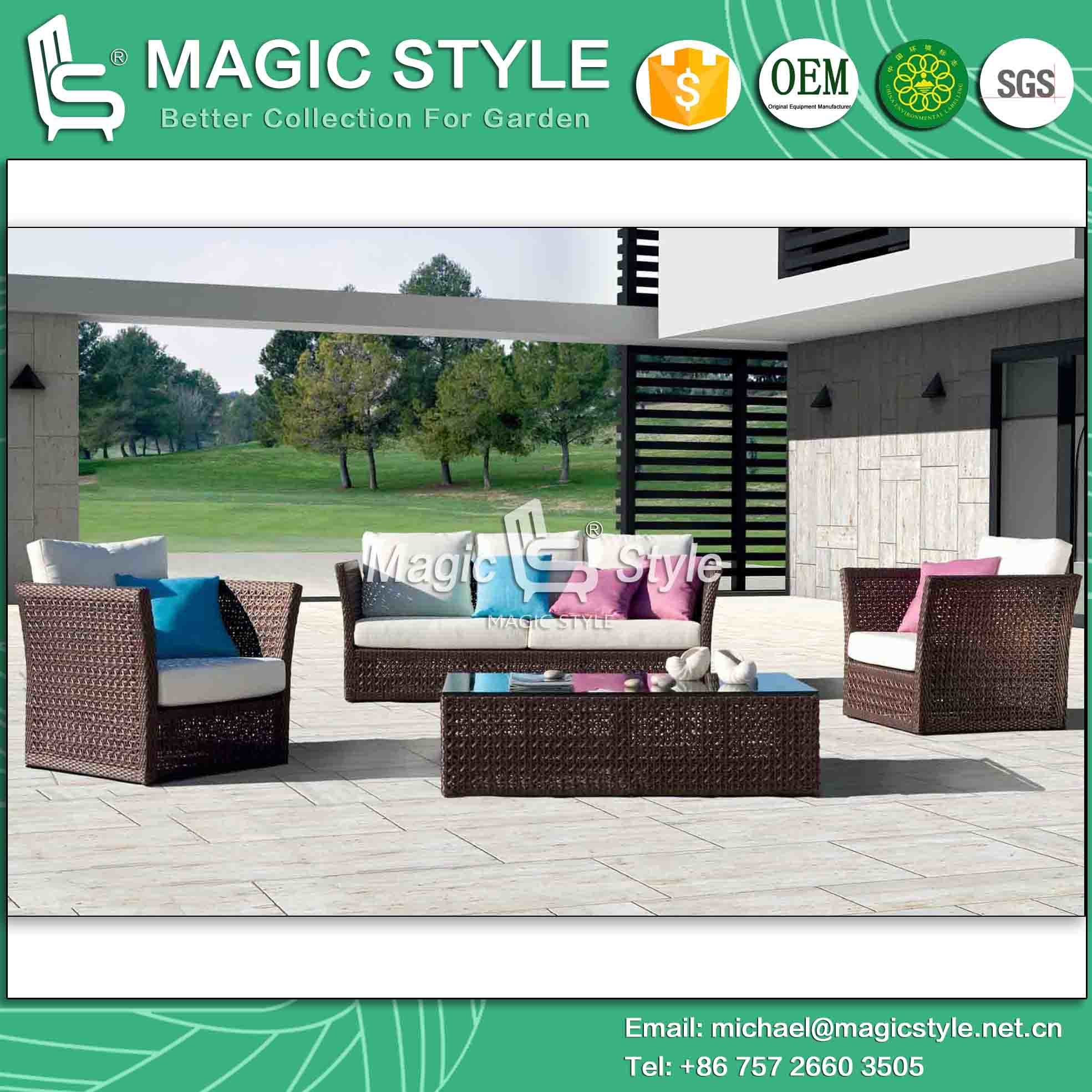 Foto de Sofá patio al aire libre juego de muebles muebles de ratán ...