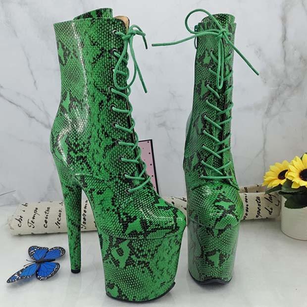 Leecabe nieuwe Pole Dancing Boots Platform over-the-Knee Boots High Hiel Nachtclubs voor vrouwen