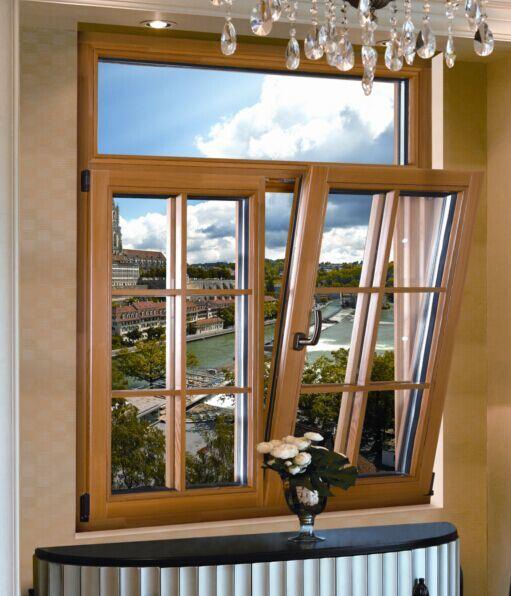 Alta calidad de las puertas y ventanas de aluminio/madera Puertas y ventanas de madera/Clads puertas y ventanas de aluminio