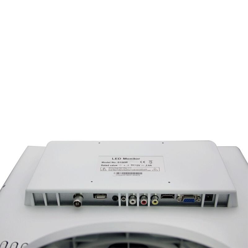 Nível médico da Caixa Cor Branco Monitor LCD de 19 polegadas com vidro temperado