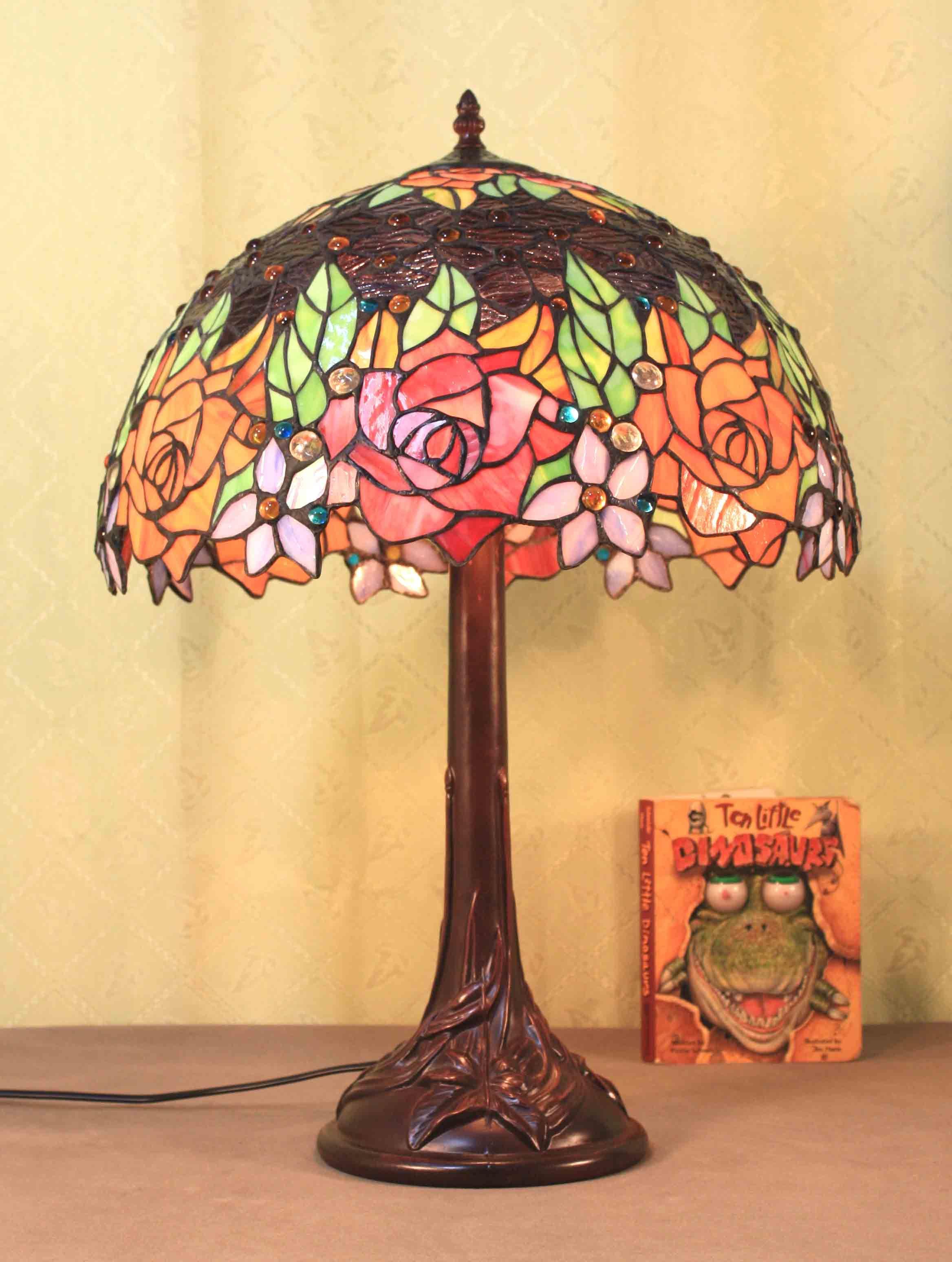 Candeeiro de mesa Tiffany lâmpada (Série A1)