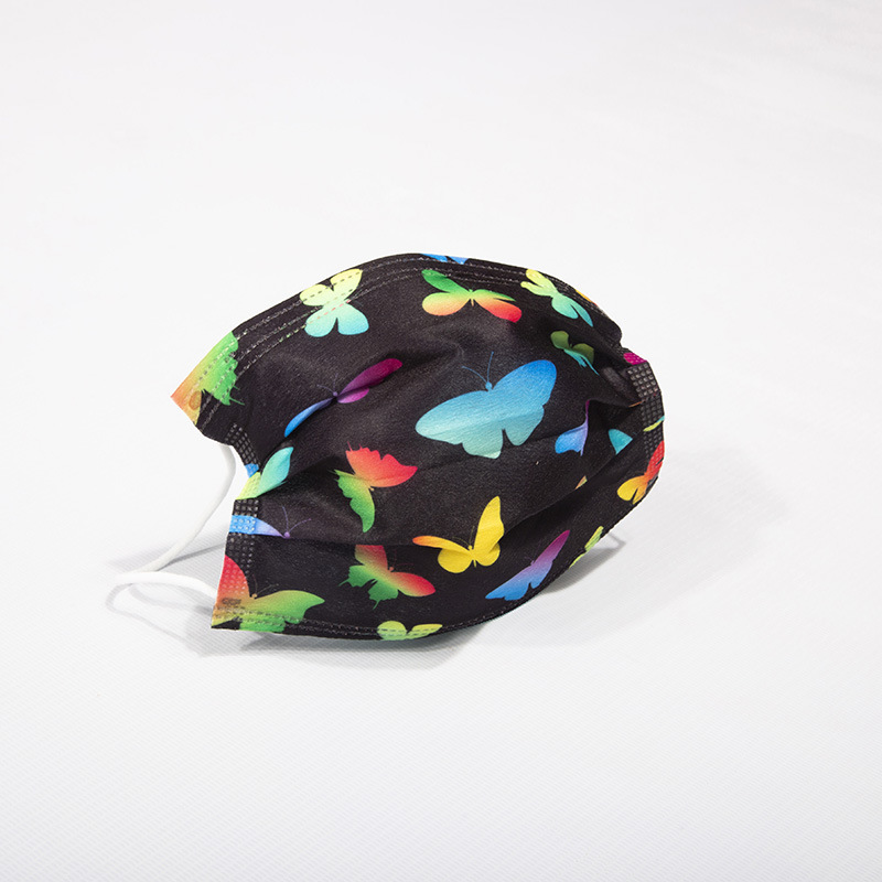 3-laags Fashion Color Butterfly Disposable Mask