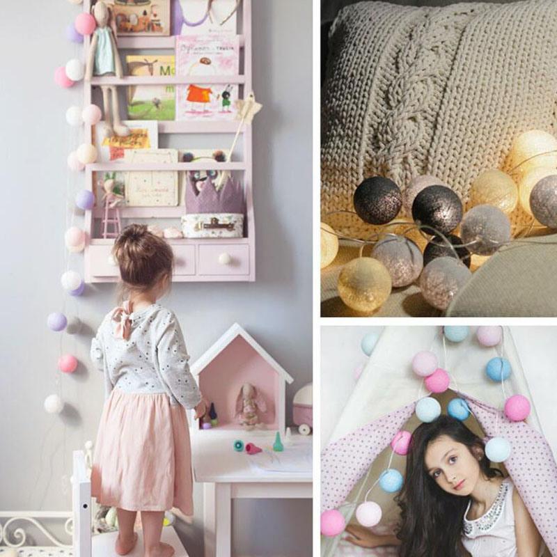 3m 20 LED-Baumwollkugel USB-Ladung-Zubehör-Zeichenkette-Licht-Feiertags-Hochzeitsfest-Weihnachtsdekoration-Atmosphären-Birne reiht Lampen auf