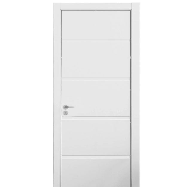 Style simple oppein laqu blanc int rieur porte en bois for Porte interieur simple