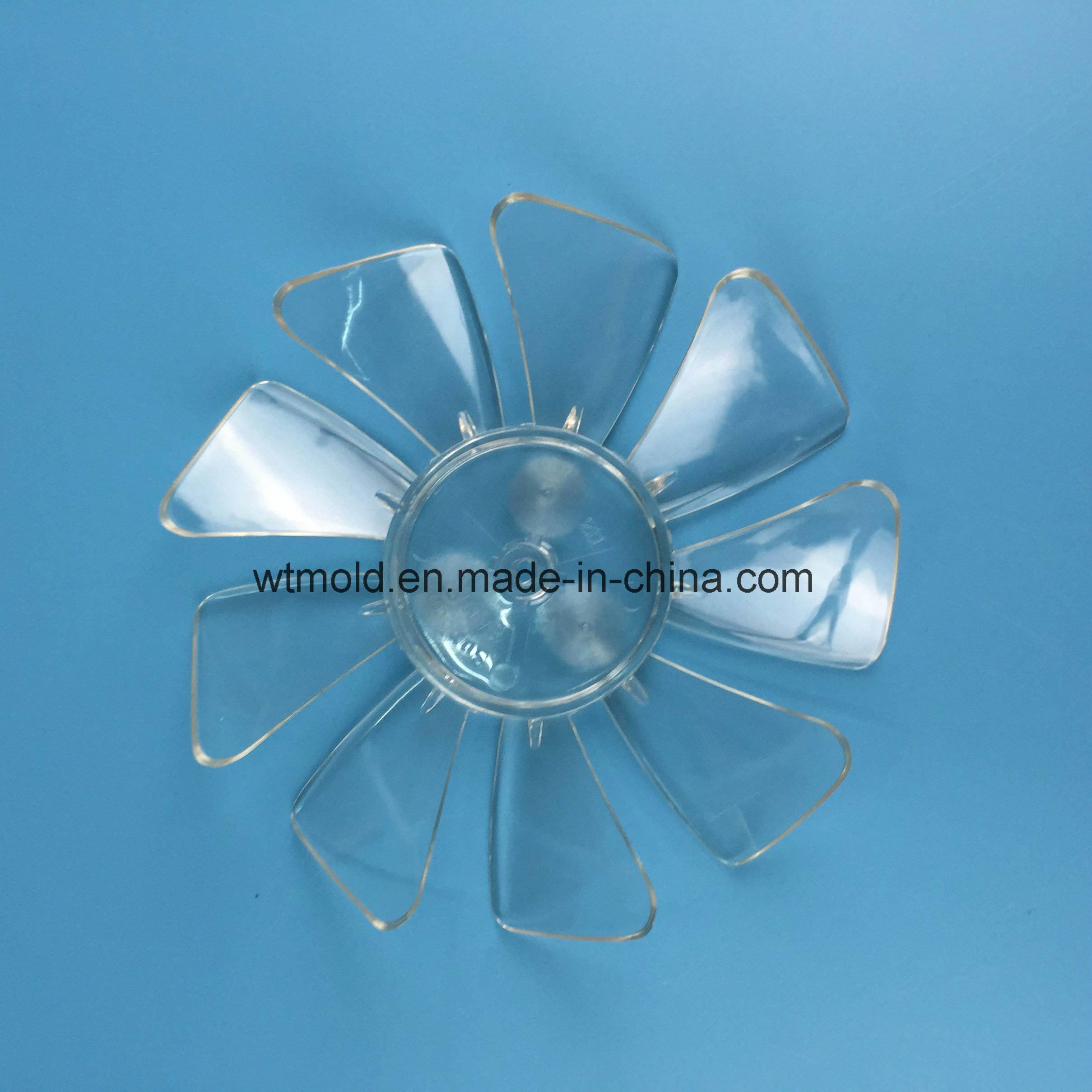 Китай заказчик четко акрилового пластика лопасти вентилятора системы литьевого формования