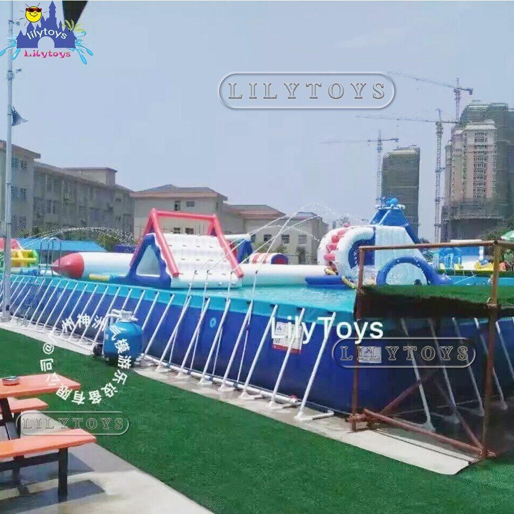 30cbd8673 Parque Acuático trampolín inflables Juegos Inflables Piscina de agua de natación  para la venta