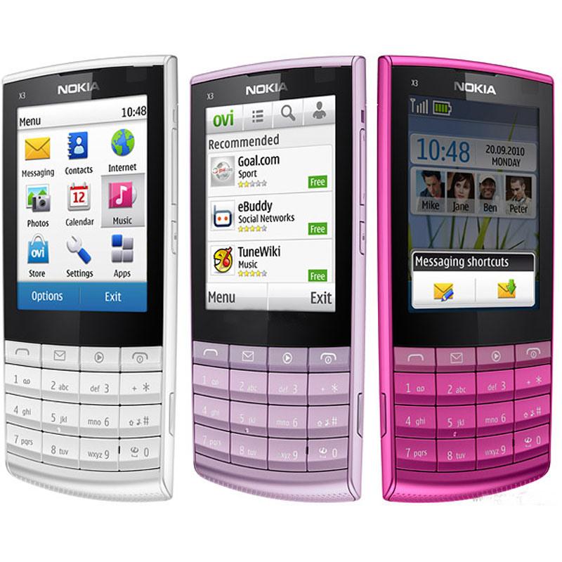 WiFi Bluetoothの古典的なX3-02携帯電話の携帯電話