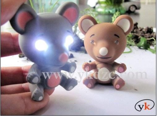 LED動物の健全なKeychain
