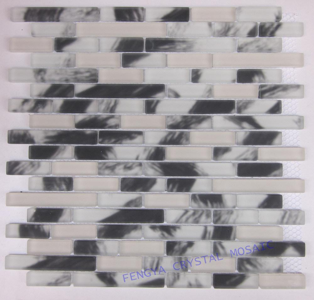 Matte crepitação pela Handpaint Mosaico Mosaico de Cristal