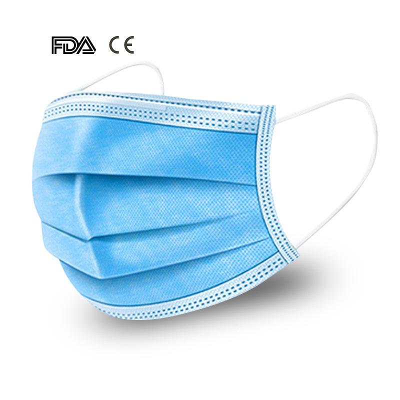 マスクの中国の製造者はEarloopのメーカー価格の保護Non-Wovenマスクの塵の買物の口3plyフィルター使い捨て可能なマスクを卸し売りする