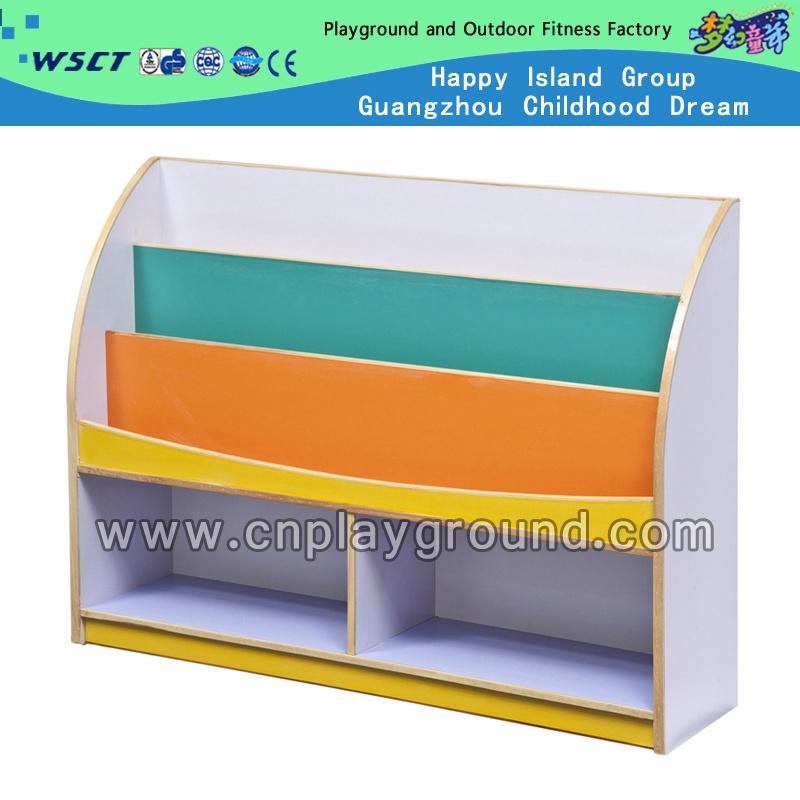 Foto de Coloridos muebles de madera estante de libros para niños (HC ...