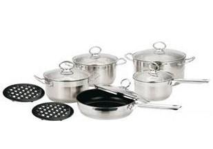 insieme diritto del Cookware del corpo 12PCS