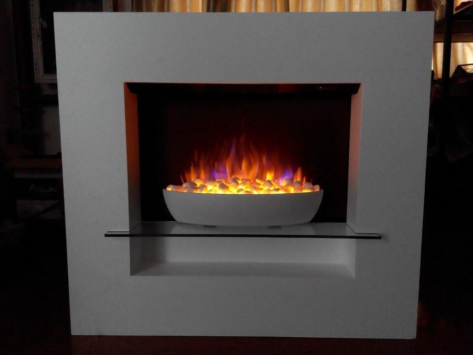 Mantelの現代Bowl Insert Fireplace