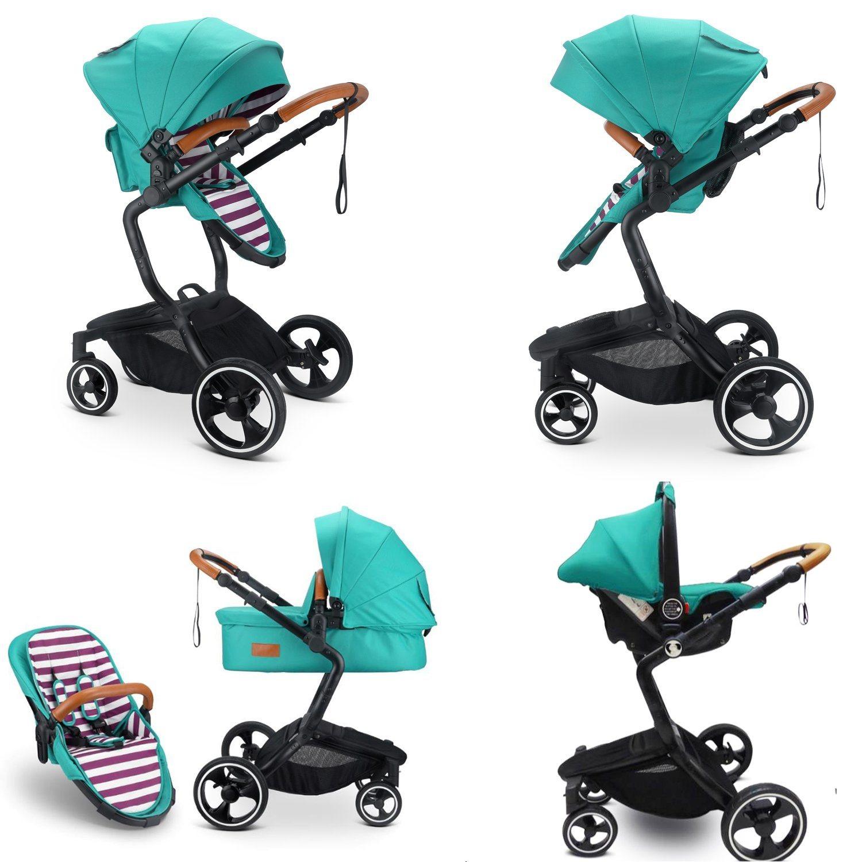 Sistema de deslocamento de alta paisagem multifuncional de Dobra em 1 carrinho de bebé com o banco do carro