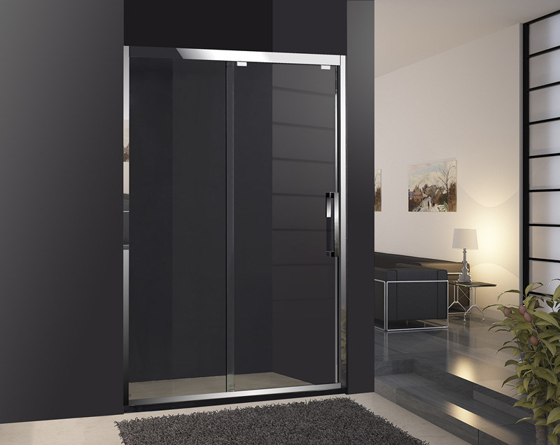 Corredera para duchas puerta de vidrio templado de seguridad cristal ducha simple - Vidrios para duchas ...