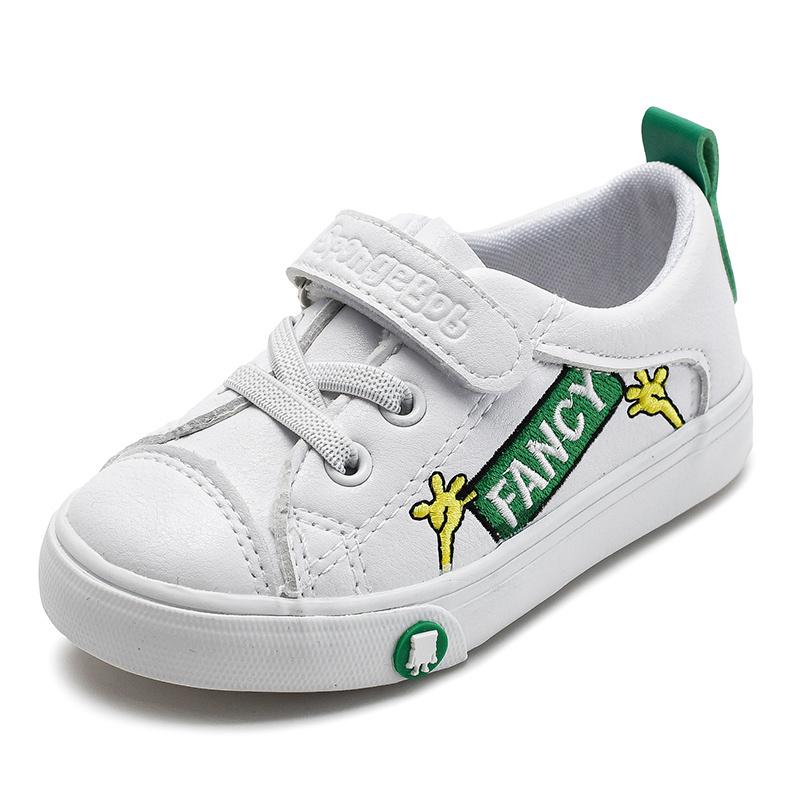Il nero casuale 2231 della scarpa da tennis di sport di marca del ragazzo del pattino di cuoio dell'unità di elaborazione dei 2019 della molla di autunno della neonata di modo bambini dell'addestratore