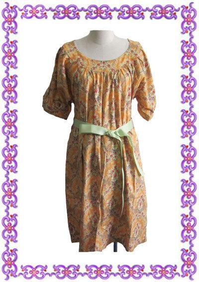 Pistache Pregant robe de coton (Style 001)
