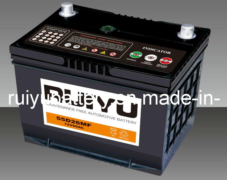 12V70Ah batería de coche sin mantenimiento.