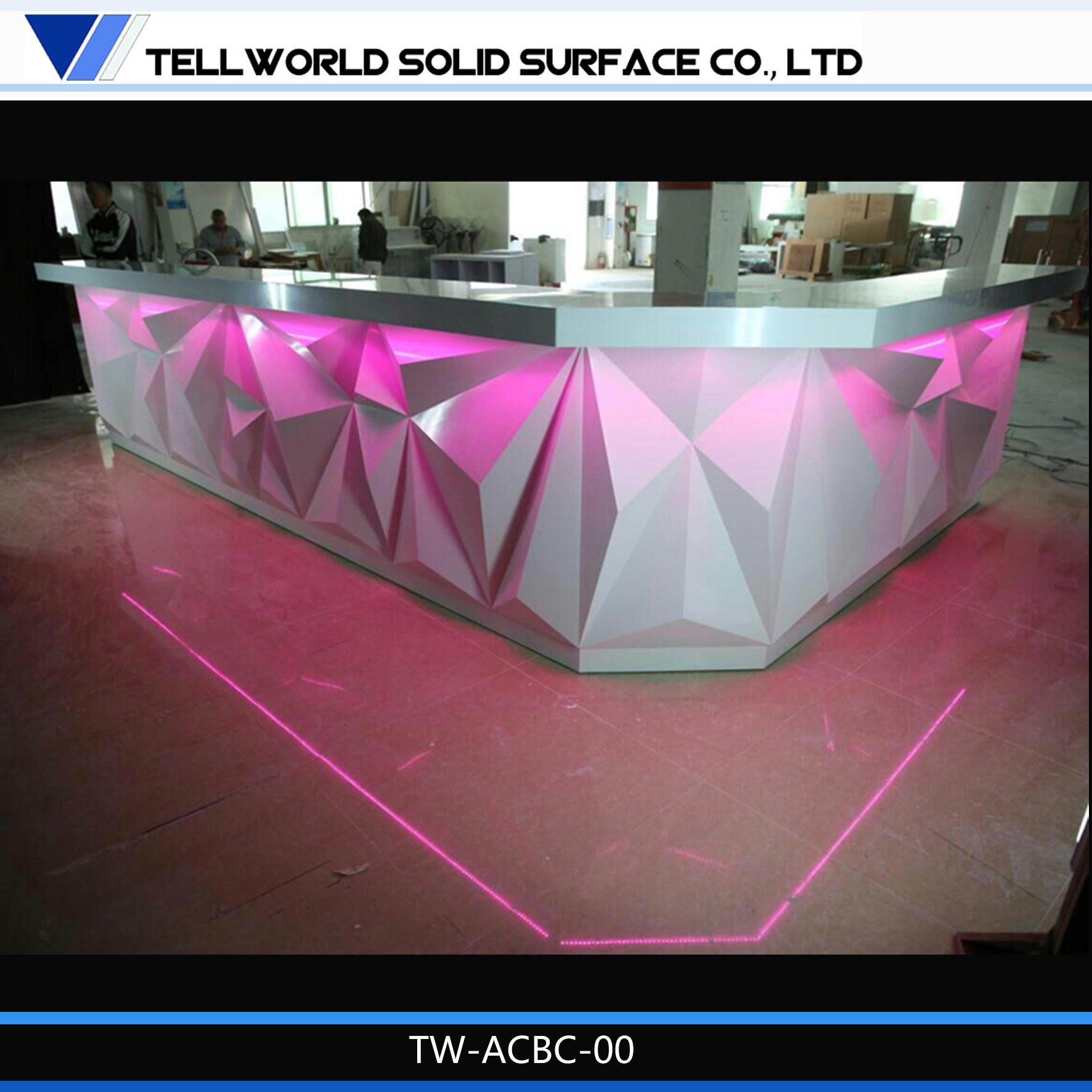 Foto De Iluminado En Azul Con Barra De Bar Moderno De Muebles  # Muebles Para Night Club