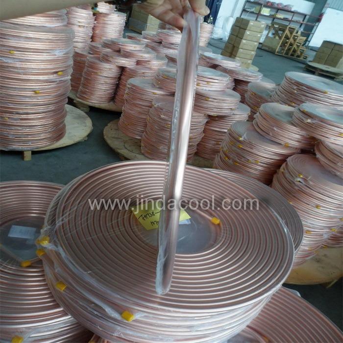 Tubo de cobre estándar americano de la bobina de panqueques, Tubo de cobre