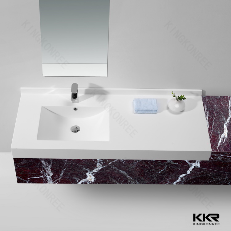 Prix bon marché pierre en résine lavabo double Salle de ...