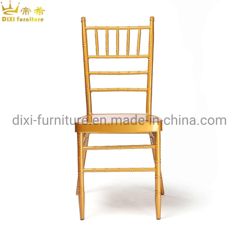 Qualität, die Hochzeits-Stühle MetallTiffany-Chiavari für Hochzeit stapelt