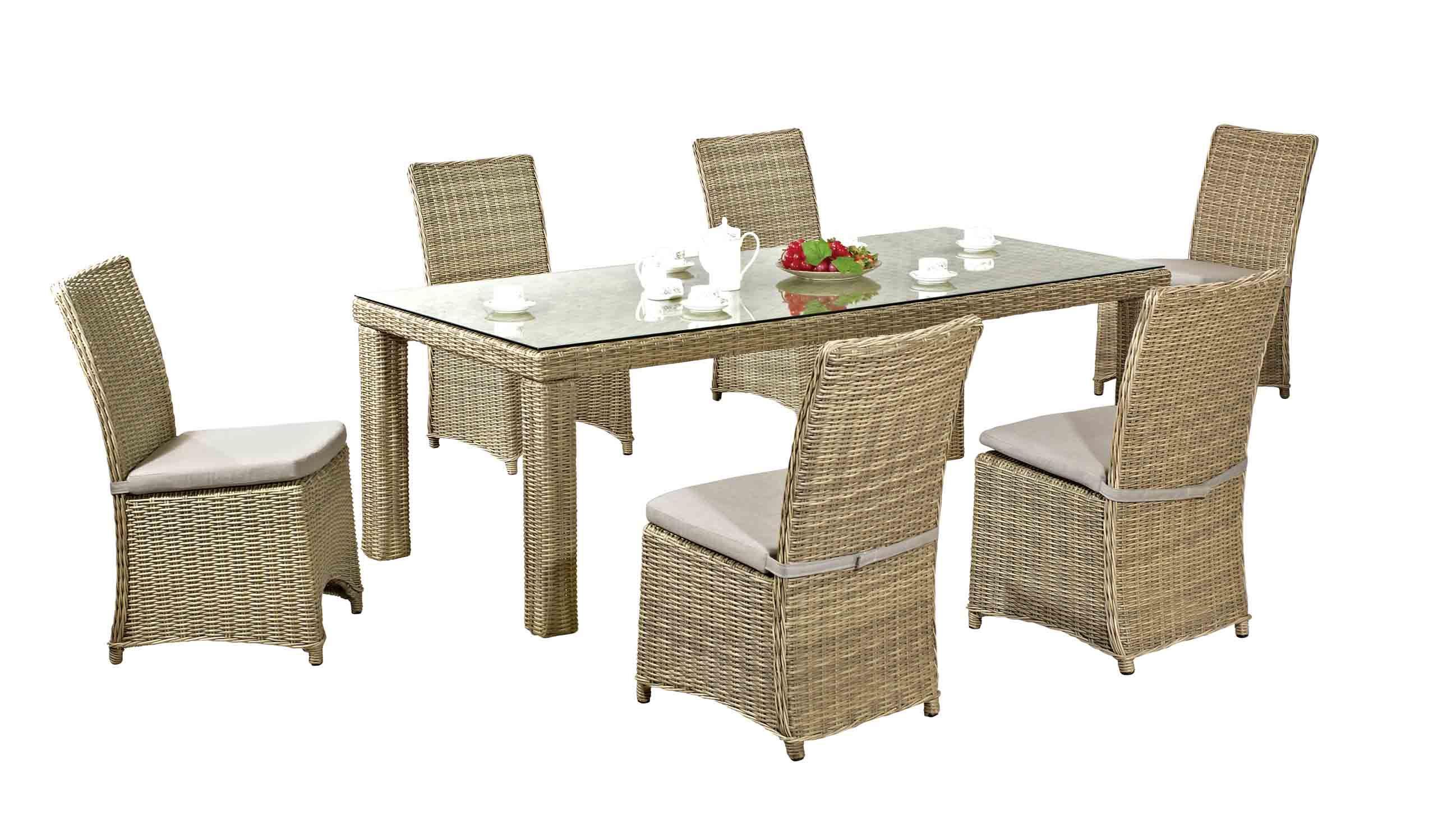 Foto de juego de comedor nuevo dise o de muebles de mimbre for Muebles de jardin de diseno
