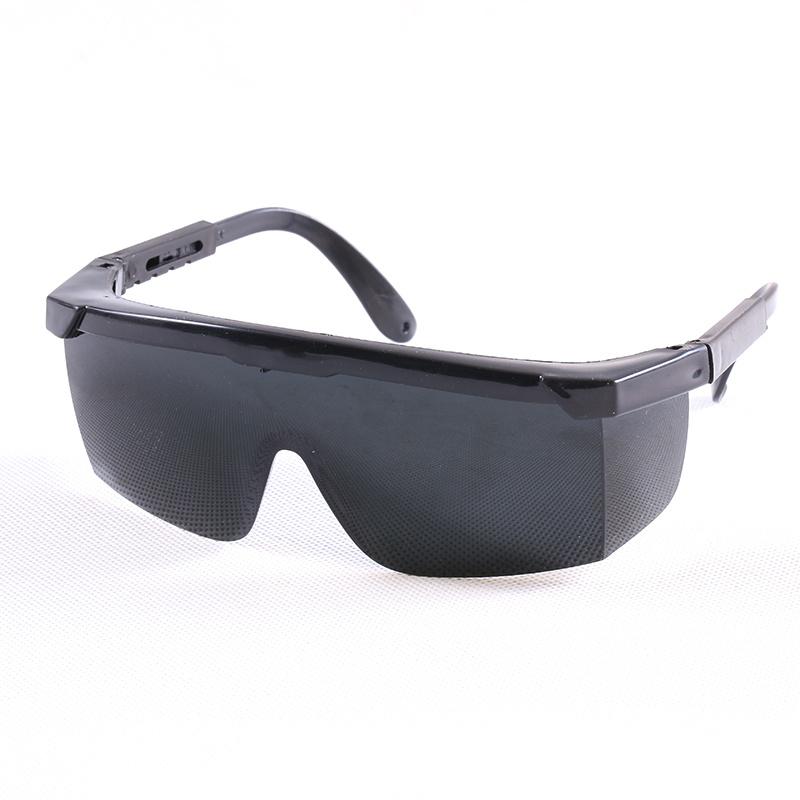 Beschermende veiligheidsbril met heldere grijze en zwarte lens